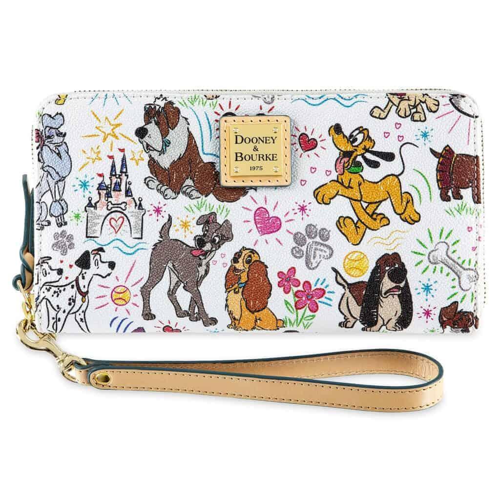 Disney Dogs Sketch Wallet by Dooney & Bourke