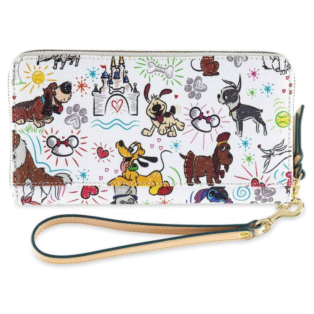 Disney Dogs Sketch Wallet (back) by Dooney & Bourke