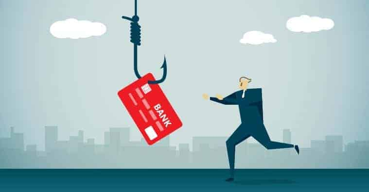 credit card scam man chasing credit card