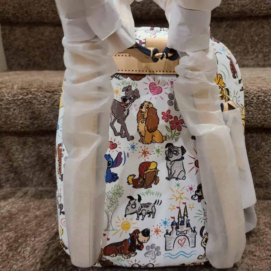 Disney Dogs Sketch Mini Backpack (back) by Dooney & Bourke