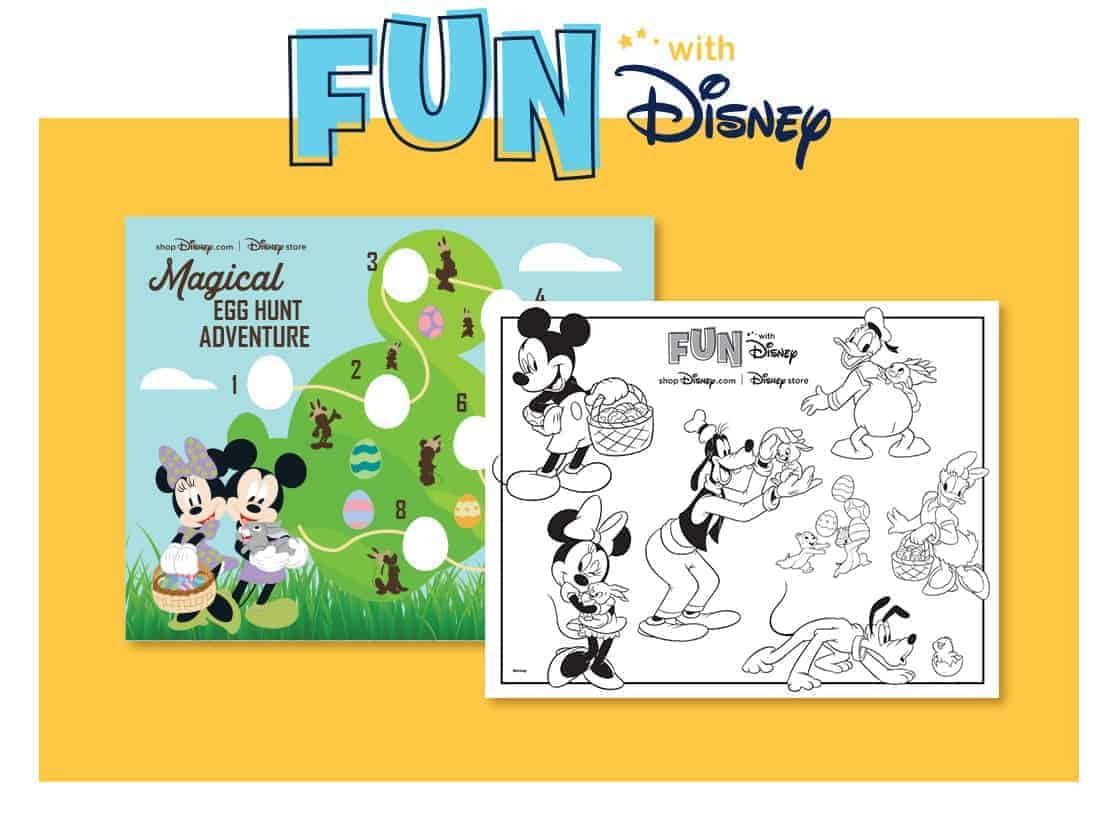 FREE Printable Disney Easter Egg Hunt & Coloring Page
