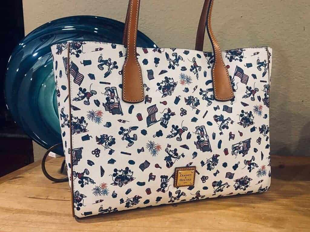 Mickey and Minnie Mouse Americana Tote Bag by Dooney & Bourke