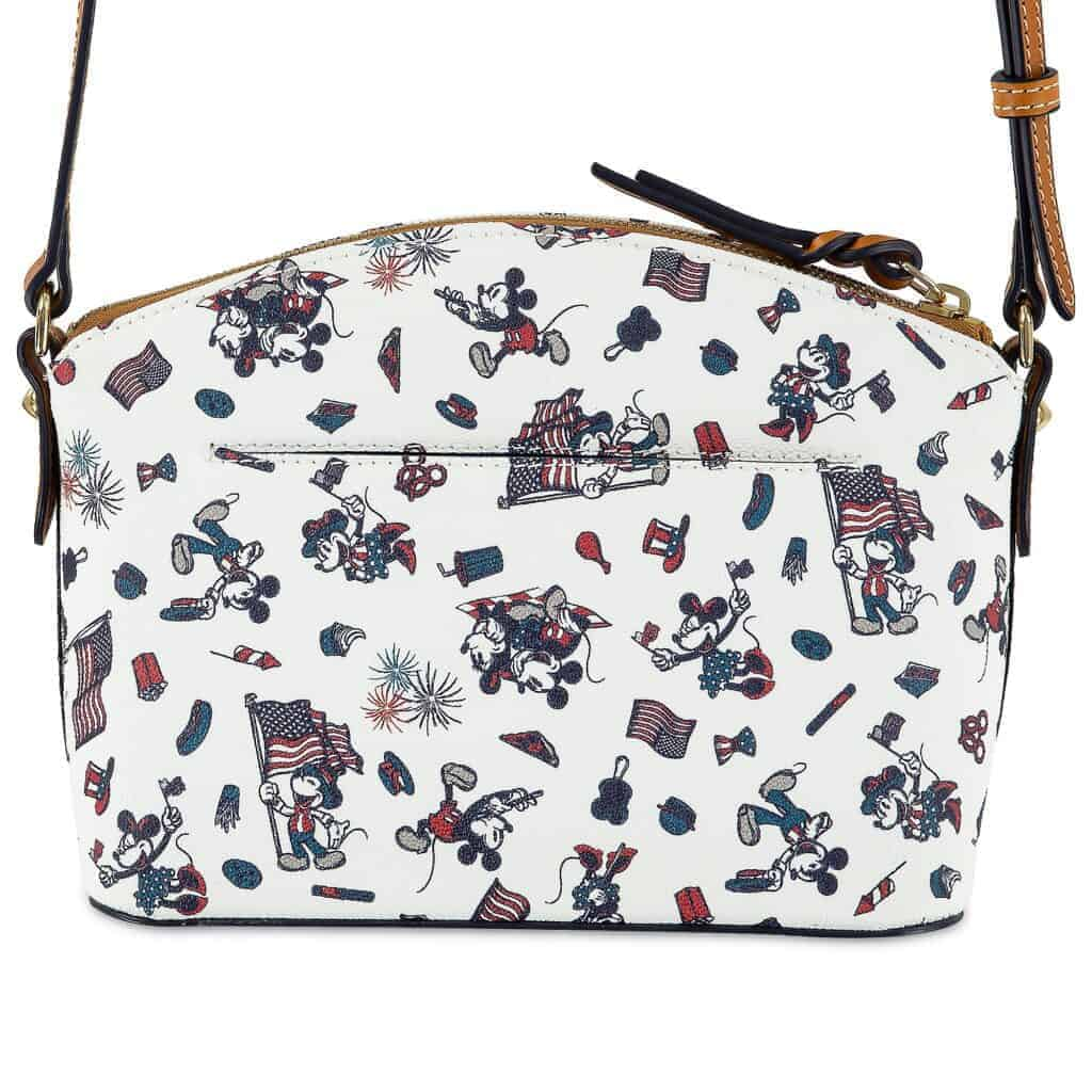 Mickey and Minnie Mouse Americana Crossbody Bag (back) by Dooney & Bourke