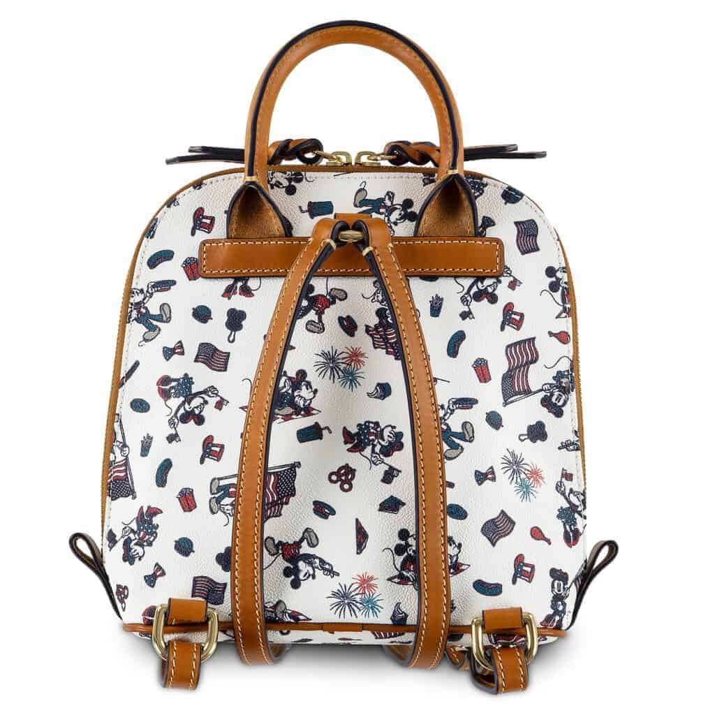 Mickey and Minnie Mouse Americana Mini Backpack (back) by Dooney & Bourke