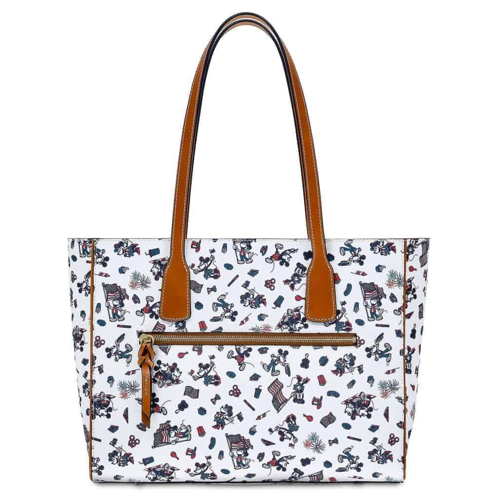 Mickey and Minnie Mouse Americana Tote Bag (back) by Dooney & Bourke