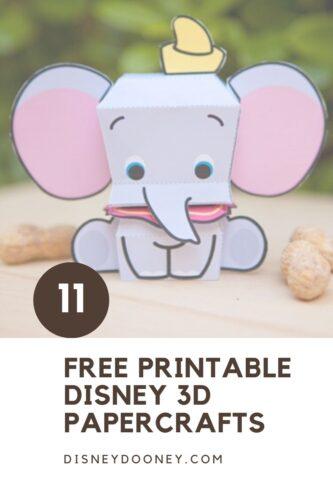 Pin me - 11 Free Printable Disney 3D Character Crafts