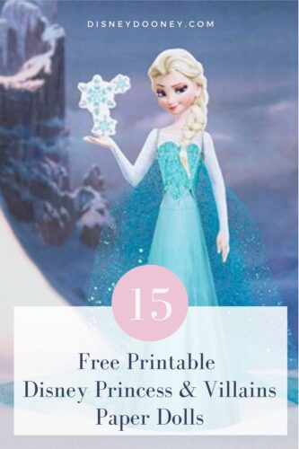 Pin me - 15 Free Printable Disney Princess and Villians 3D Paper Dolls