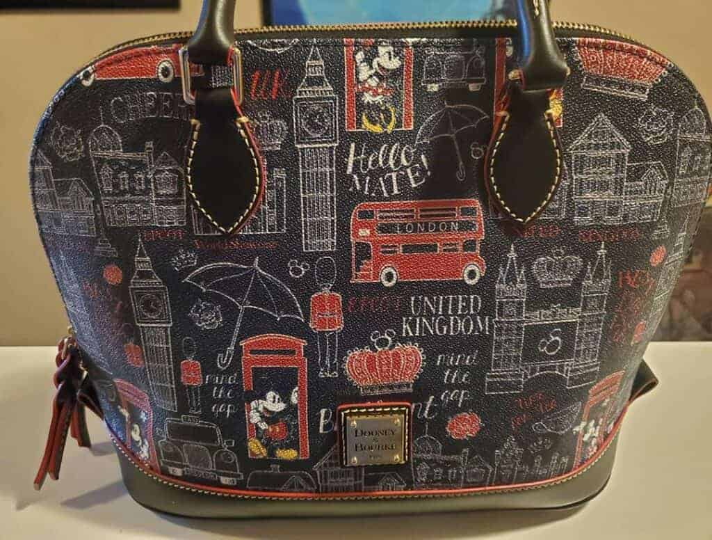 Epcot World Showcase: United Kingdom Zip Satchel by Disney Dooney & Bourke