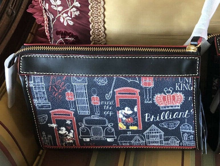Epcot World Showcase: United Kingdom Crossbody Bag (back) by Disney Dooney & Bourke