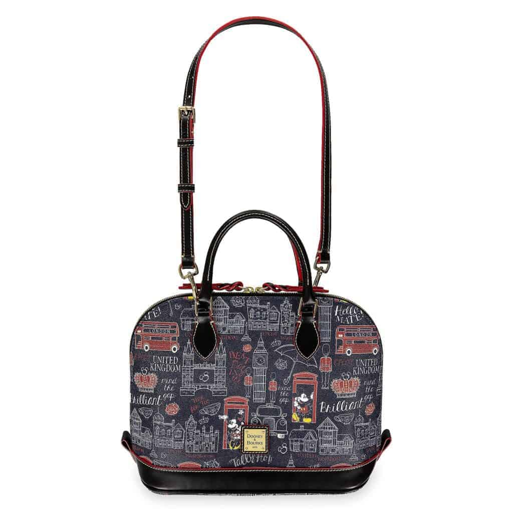 Epcot World Showcase: United Kingdom Zip Satchel (strap) by Disney Dooney & Bourke