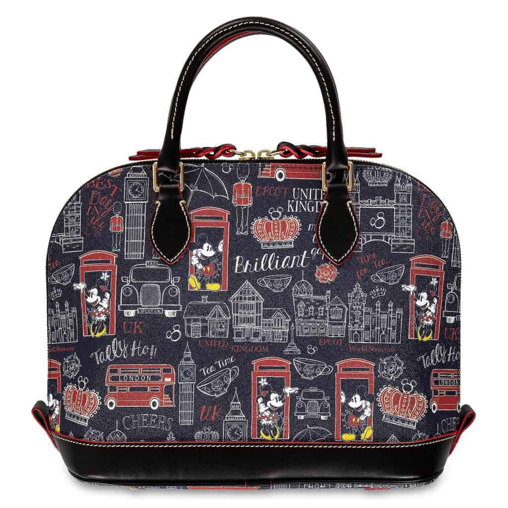 Mickey and Minnie Mouse Hello Mate Zip Satchel (back) by Dooney & Bourke