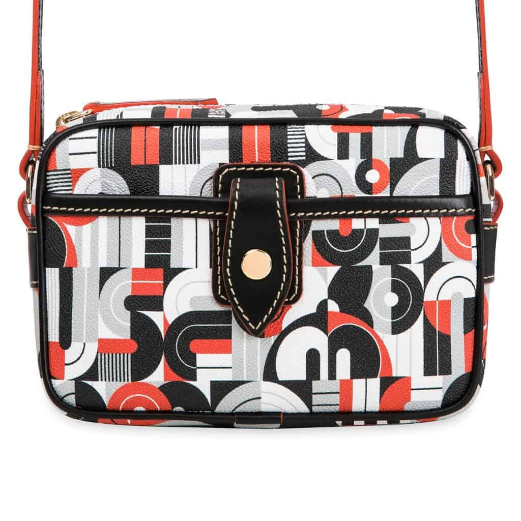 Mickey and Minnie Mouse Geometric Crossbody Bag (back) by Dooney & Bourke