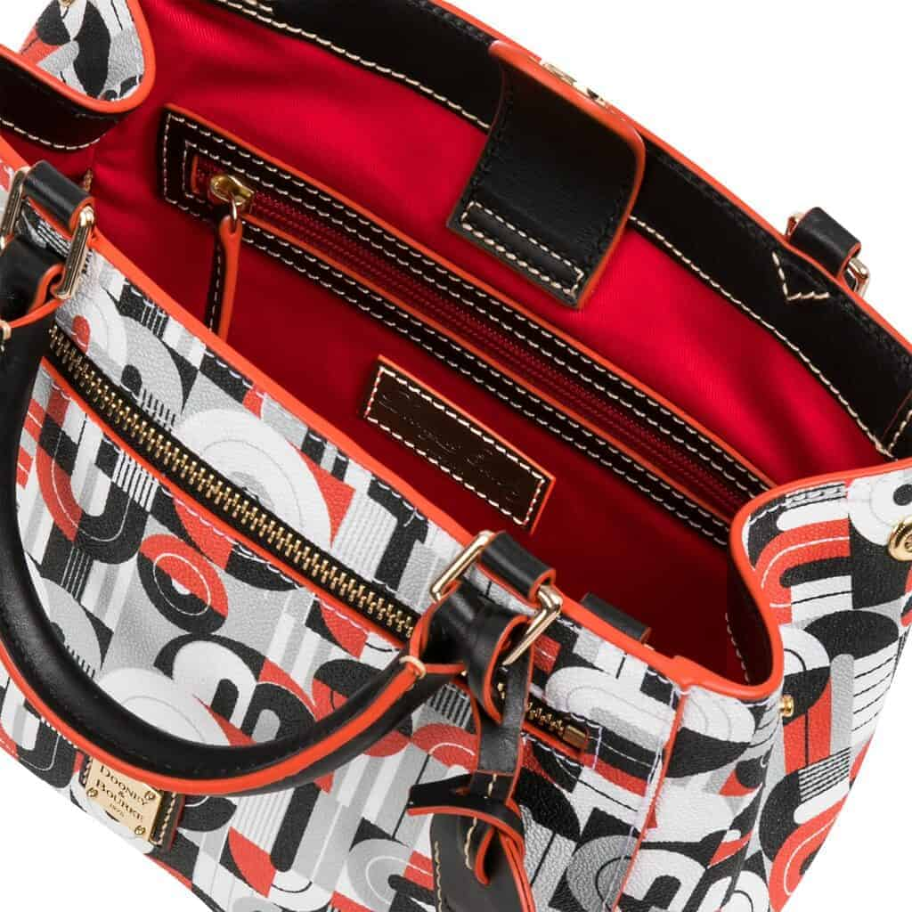 Mickey and Minnie Mouse Geometric Satchel (interior) by Dooney & Bourke