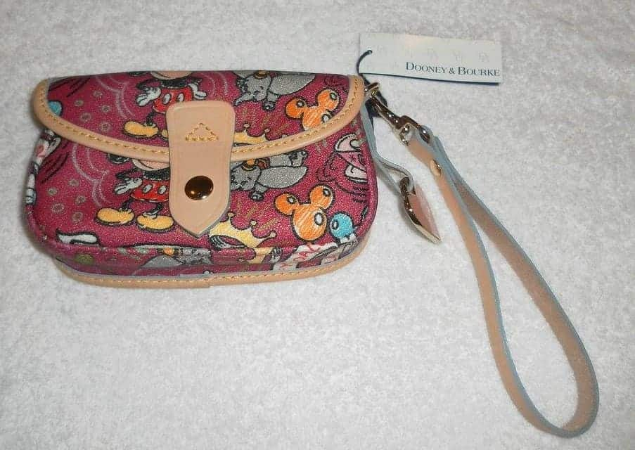 Berry Sketch Snap Wristlet OOAK