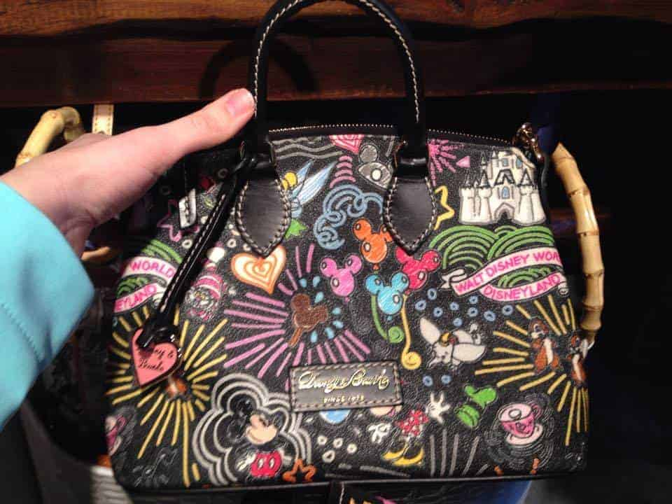 Colored Sketch Black Crossbody Satchel OOAK