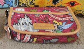 Disney Colored Sketch Berry Wristlet OOAK (back)