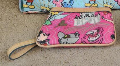 Disney Colored Sketch Pink Wristlet OOAK (back)