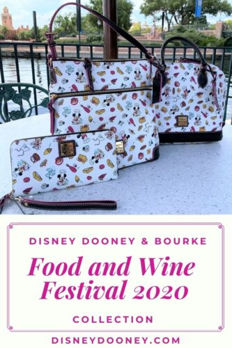 Pin me - Disney Dooney and Bourke Food and Wine Festival 2020 Collection