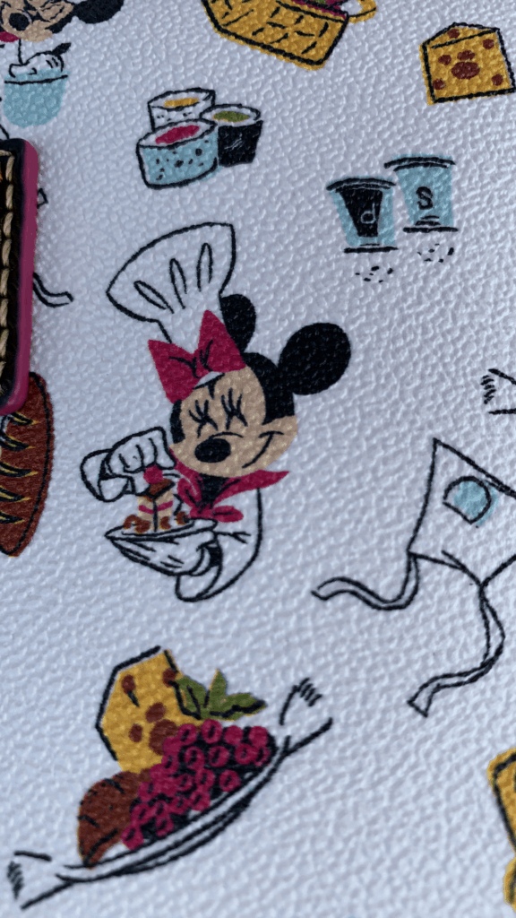 Food and Wine Festival 2020 Minnie Print Close Up