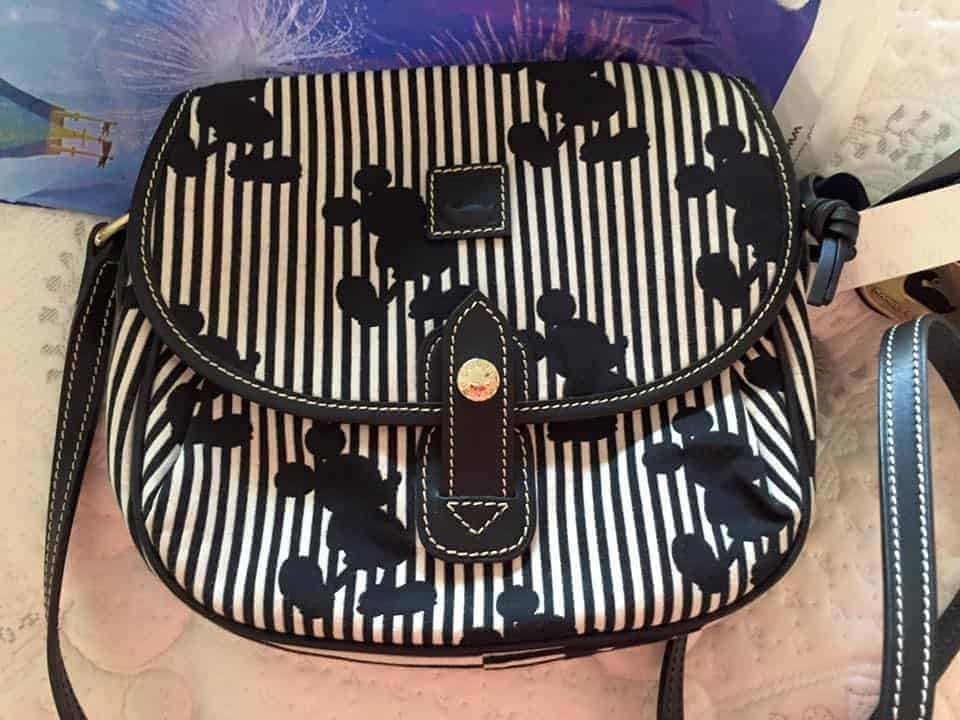 Mickey Stripes Crossbody Bag OOAK
