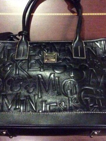 Black Italian Leather Tote OOAK