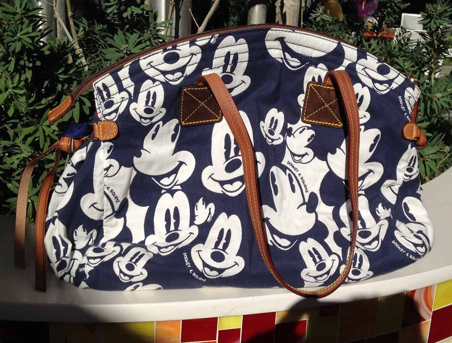 Blue Mickey Faces Domed Satchel OOAK