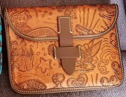 Brown Leather Sketch iPad Case OOAK