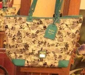 Comics Tote with Teal Trim OOAK
