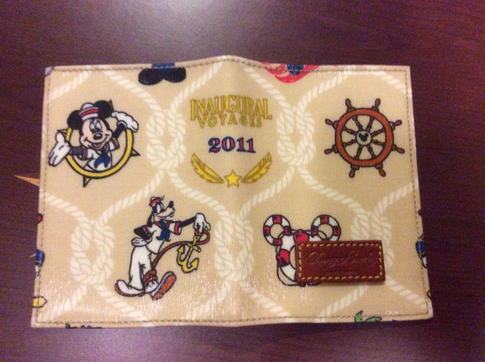 Disney Cruise Line Disney Dream Inaugural Passport Cover OOAK (open)