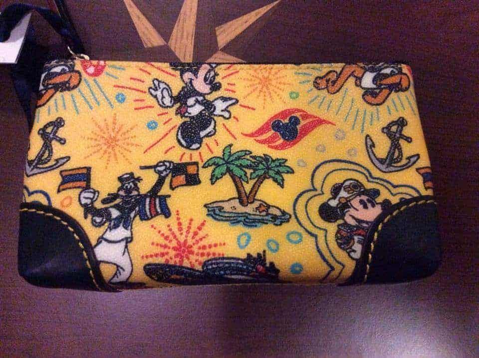 Disney Cruise Line Colored Sketch Yellow Cosmetic Bag