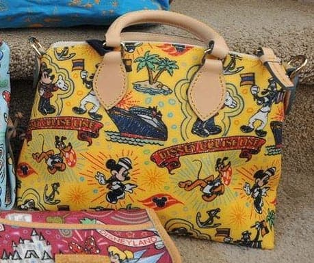 DCL Colored Sketch Yellow Satchel OOAK (back)