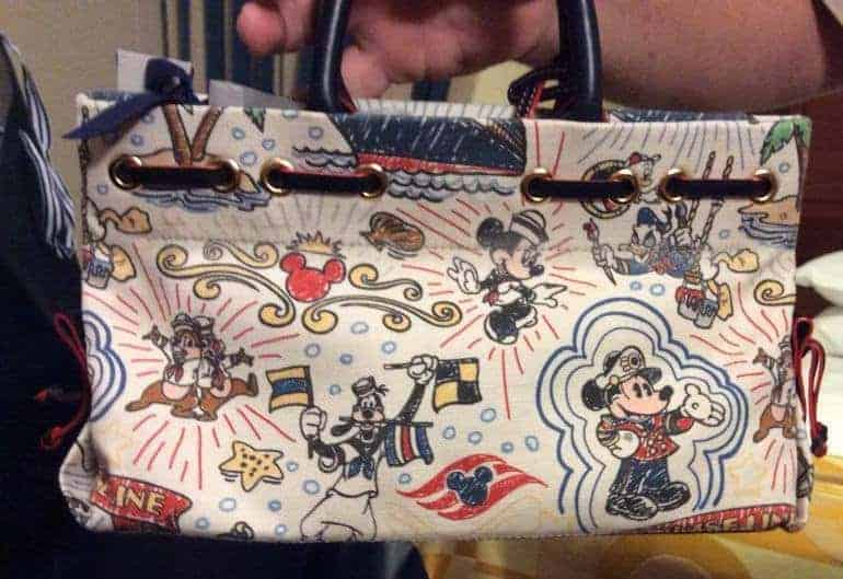 Disney Cruise Line Sketch Canvas Tassel Tote (back)