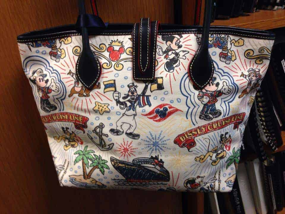 Disney Cruise Line Sketch Canvas Tote (back)