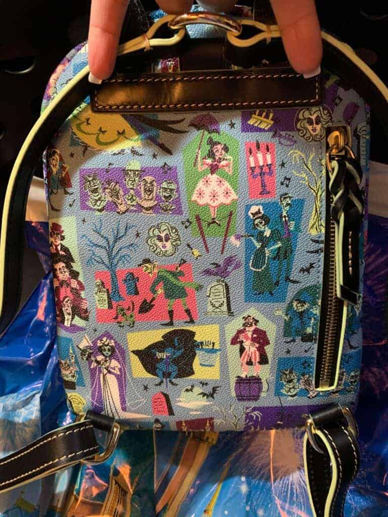 Haunted Mansion 2020 Mini Backpack (back) by Dooney & Bourke