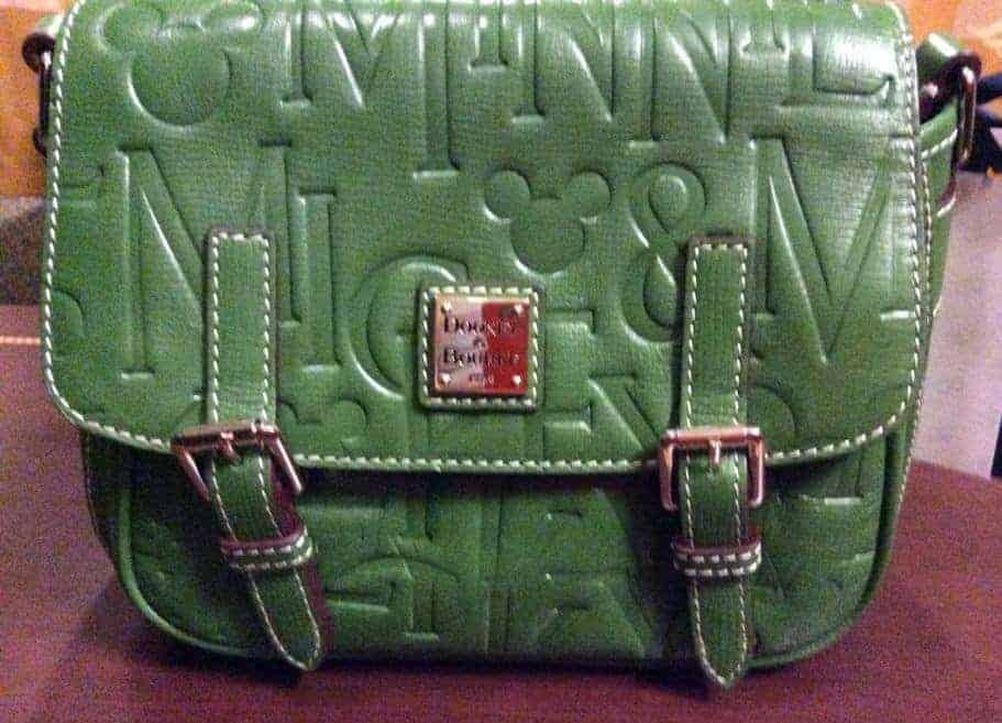 Mickey Names Italian Leather Green Crossbody