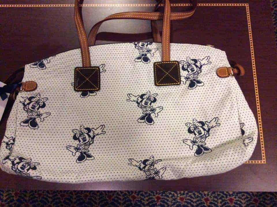 Minnie Canvas White Domed Satchel OOAK