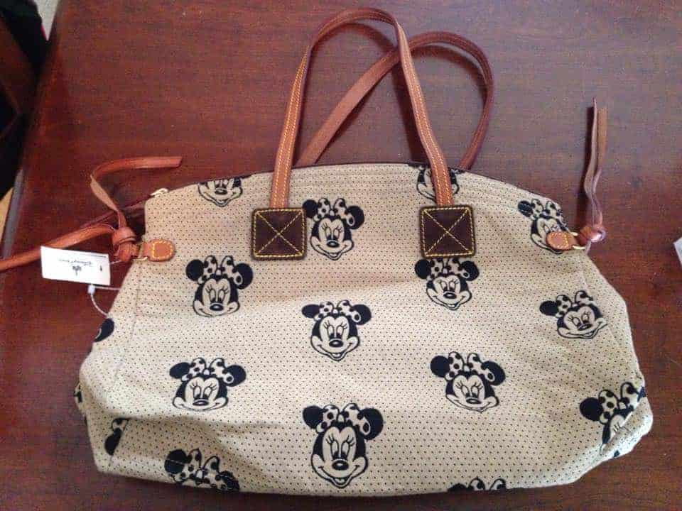 Minnie Faces Cream Domed Satchel OOAK
