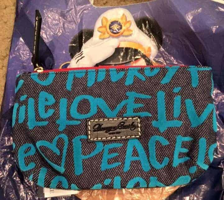 Peace Love Mickey Blue Pouch OOAK