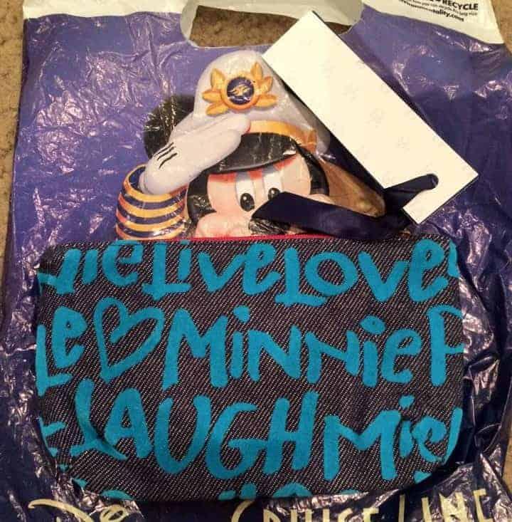 Peace Love Mickey Blue Pouch (back) OOAK