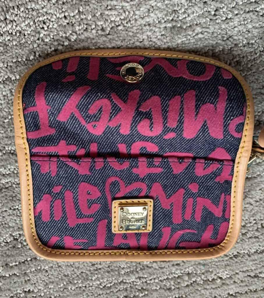 Peace Love Mickey Pink Wristlet OOAK (back)