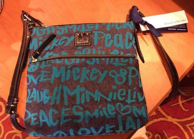 Peace love Mickey Blue Crossbody OOAK
