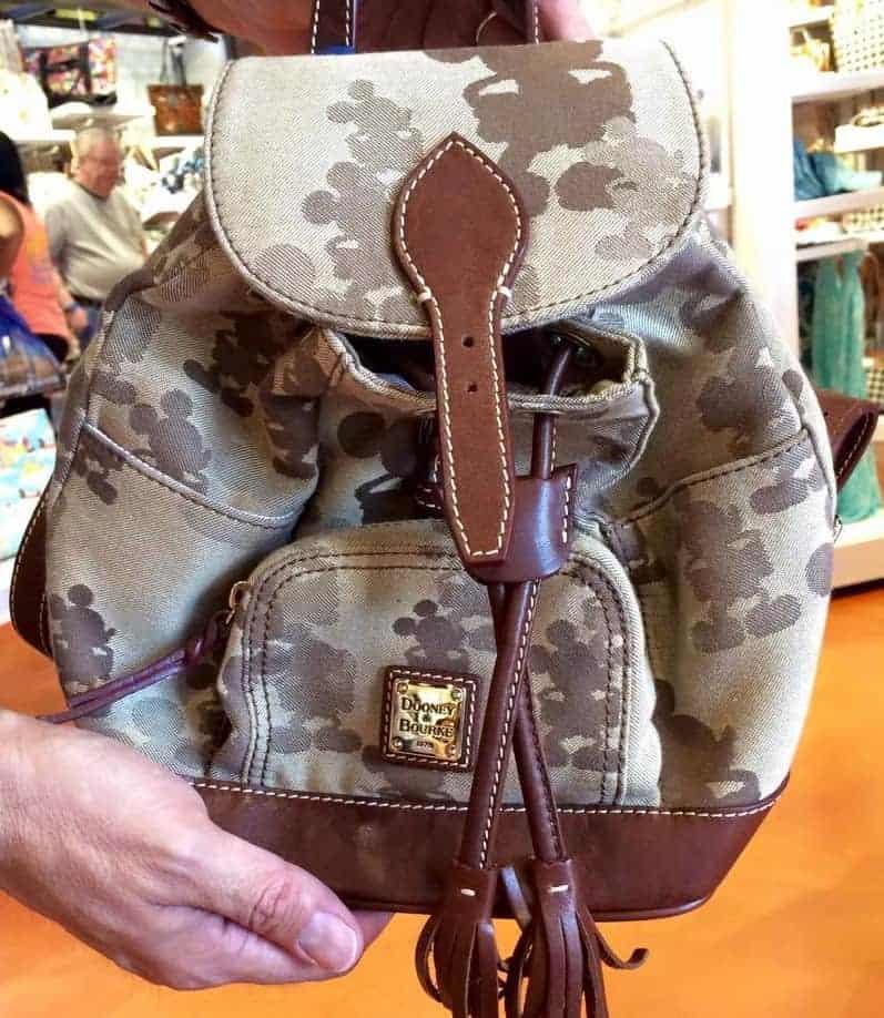 Tonal Mickey Brown Backpack OOAK