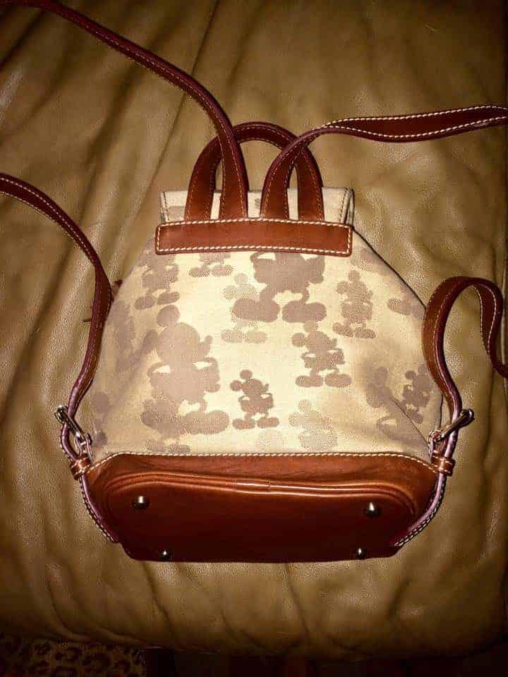 Tonal Mickey Mini Backpack (back) OOAK