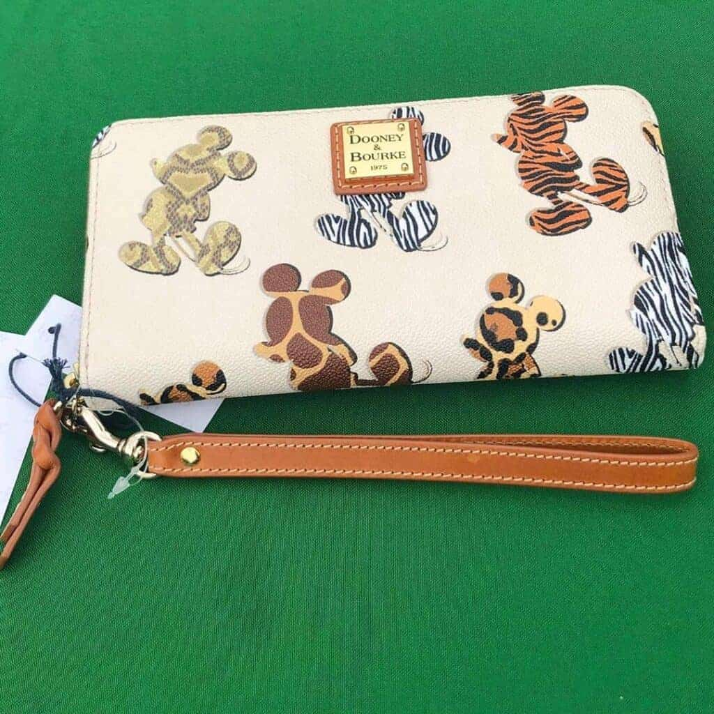 Disney Dooney & Bourke Mickey Animal Print Wallet