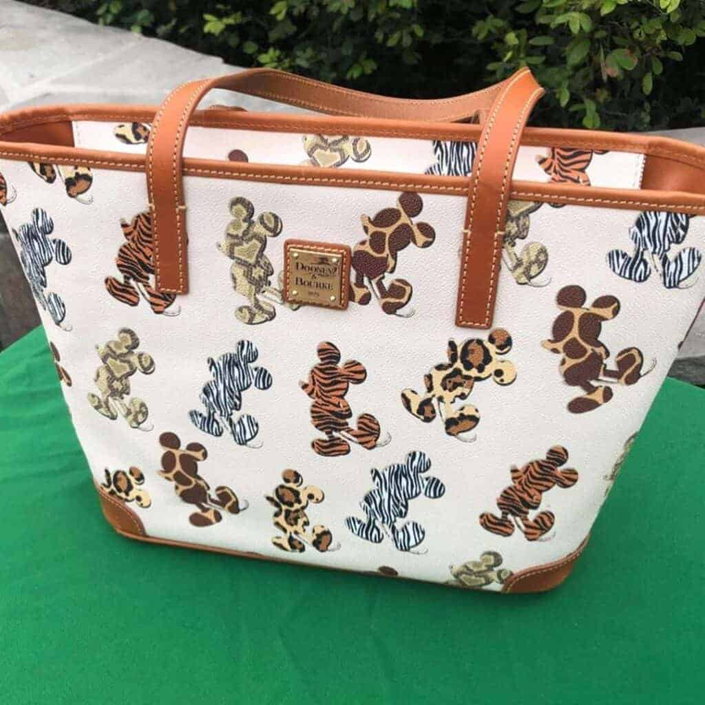 Disney Dooney & Bourke Mickey Animal Print Tote