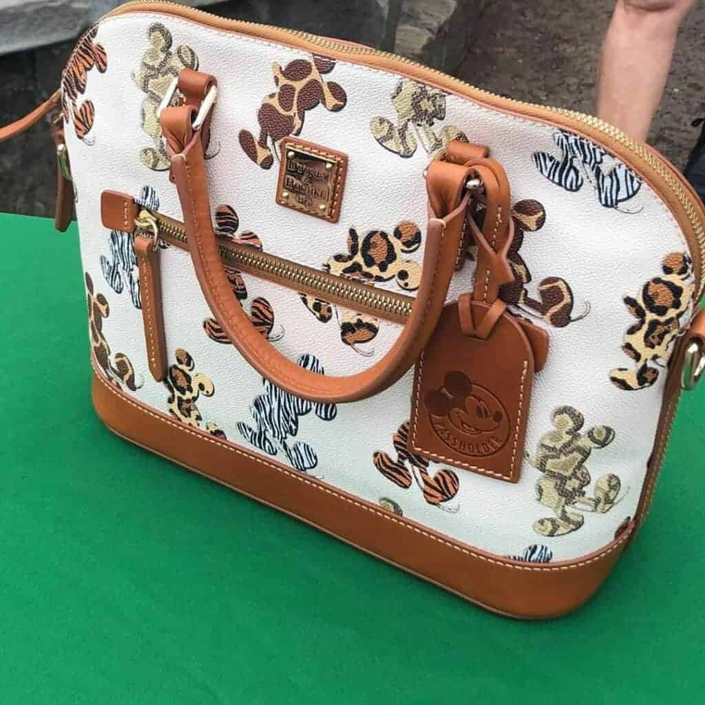 Disney Dooney & Bourke Mickey Animal Print Passholder Satchel