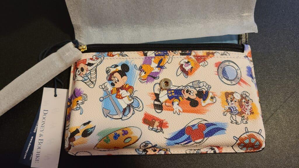 Disney Cruise Line Ink & Paint Wristlet (open)