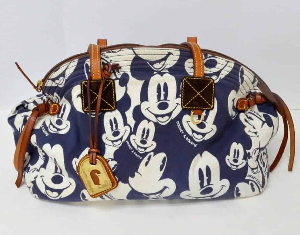 Blue Mickey Faces Domed Satchel with DB OOAK