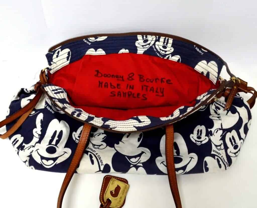 Blue Mickey Faces Domed Satchel with DB interior OOAK