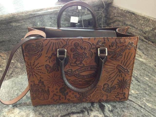 Brown Leather Sketch Tote OOAK